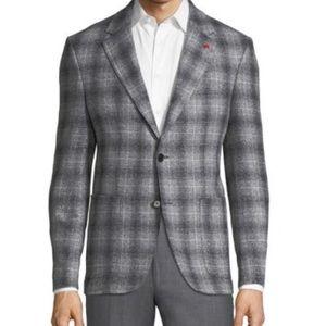 New Tailorbyrd Plaid Sport Coat Grey